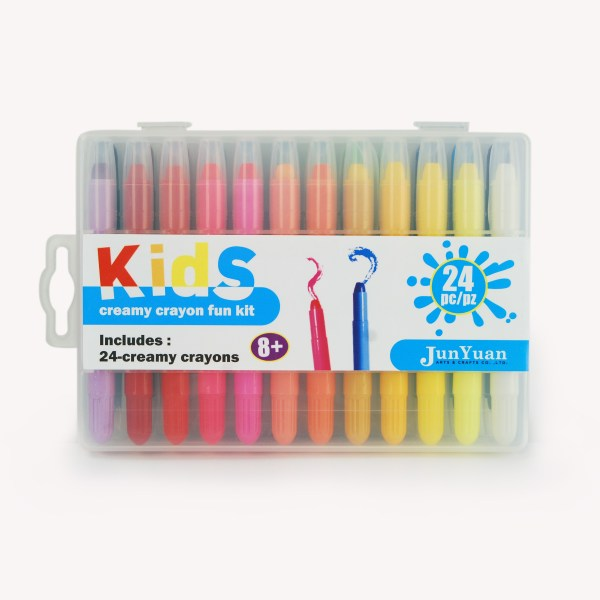 24pc Kids Plastic Case Creamy Crayons