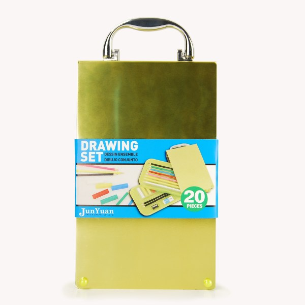 20pc Aluminum Flip Case Drawing Art Set