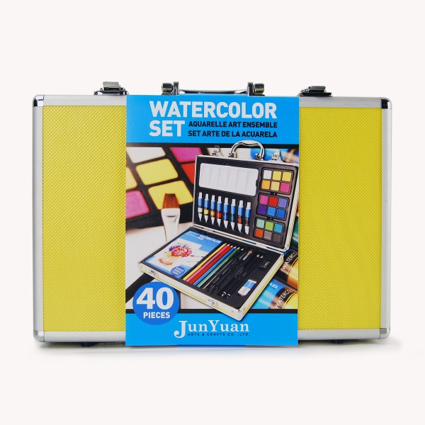 40pc Aluminum Watercolor Art Set
