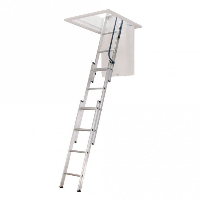 Three Section Loft Ladder With Free Pole And Loft Catch