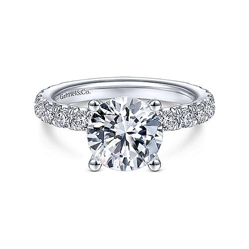 diamond engagement ring 1.01 carats with hidden halo