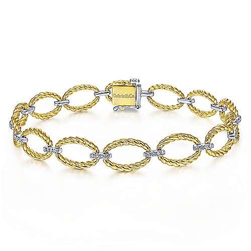 oval link bracelet with diamonds