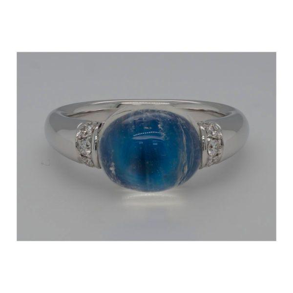moonstone & diamond ring