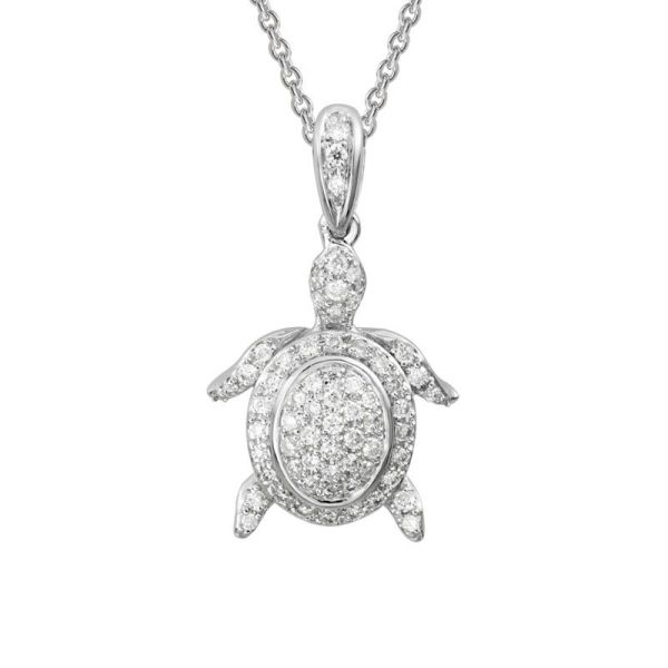 diamond turtle necklace