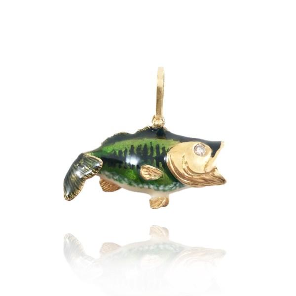 enameled bass pendant