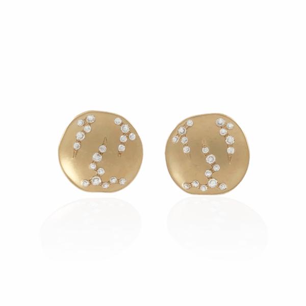 .14ctw luna disc earrings