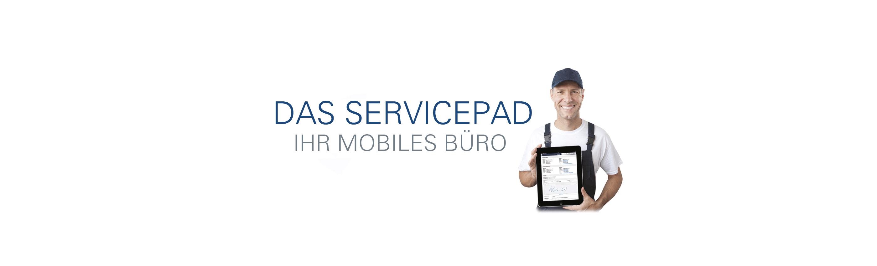 Direkt von der Baustelle ins Büro: Die ServicePad-Lösung von JUPROWA für alle Tablets!