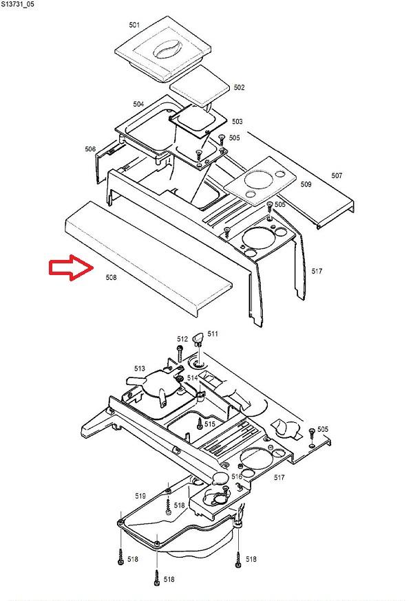 Jura Impressa F7-F8 Water Tank Lid