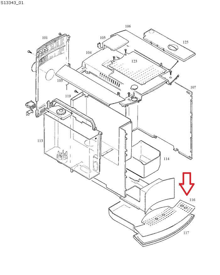 Jura Capresso-Impressa C9-C70-C90 Drip Tray Grid