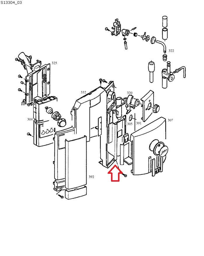 Jura C5-C9-C60-C65-C90 Coffee Dispensing Spout