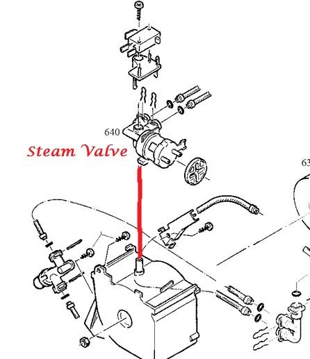 Jura Capresso-Impressa E8-E9-E75-E80-E85 Steam Valve
