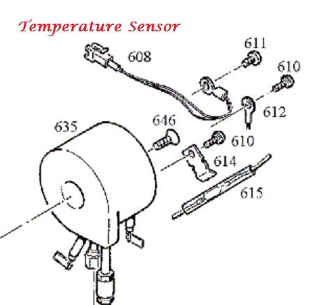 Jura C-E-F-J-S-X-Z Thermoblock Temperature Sensor
