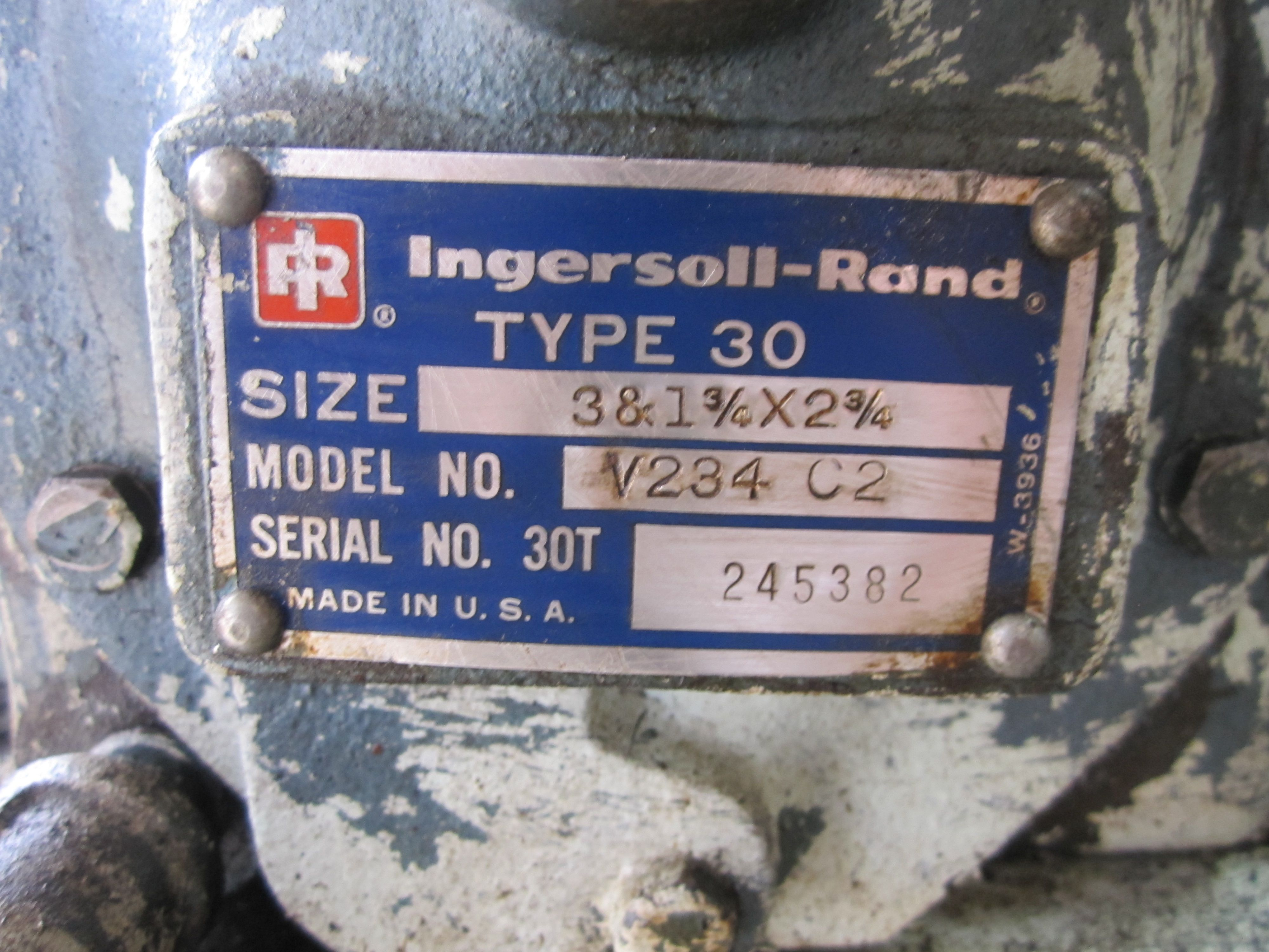 contactor wiring diagram single phase motor 12 lead ingersoll-rand type 30 model v234 c2