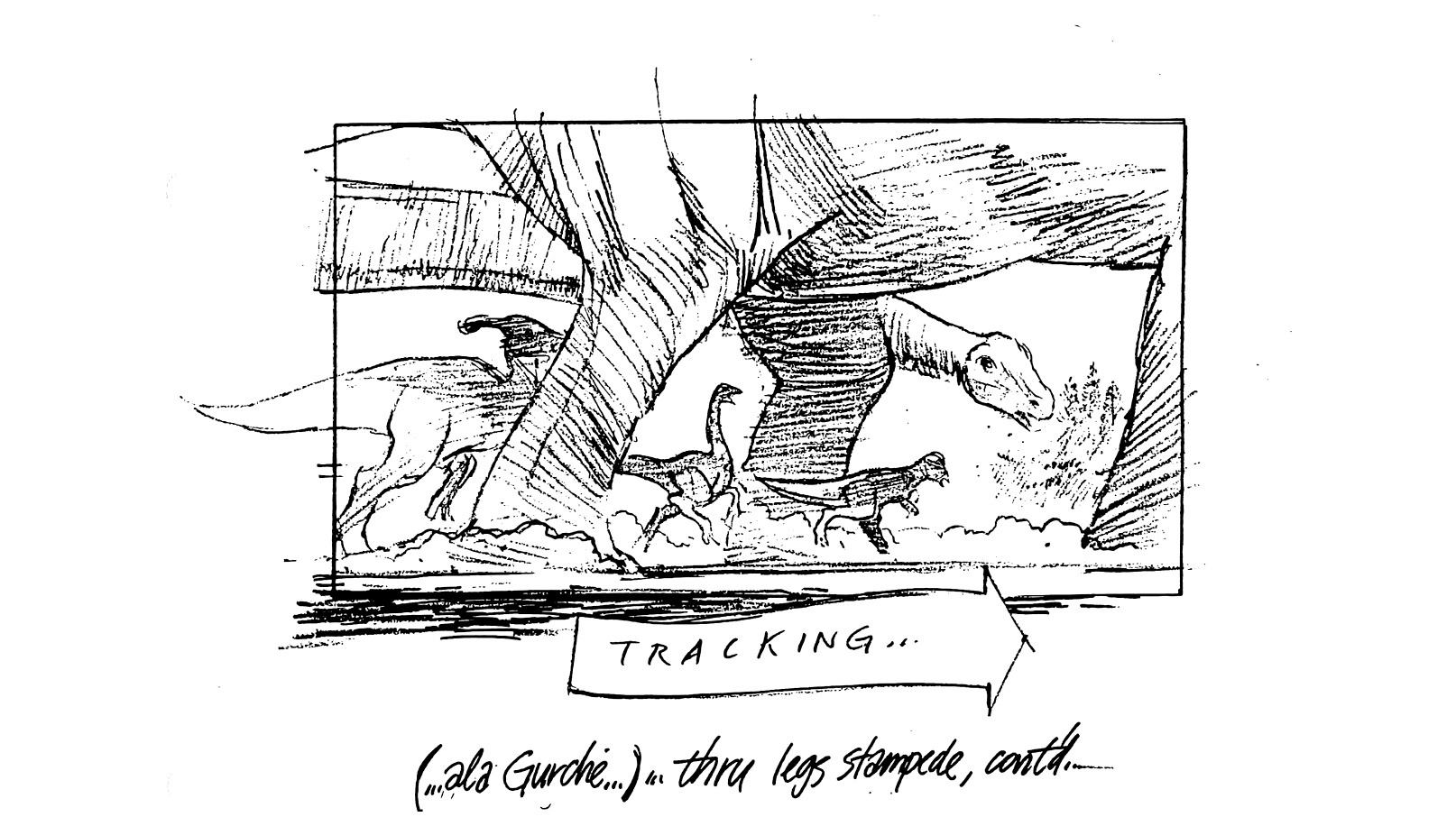 The Lost World Storyboards