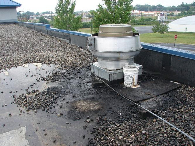 Roof Grease Damage 4