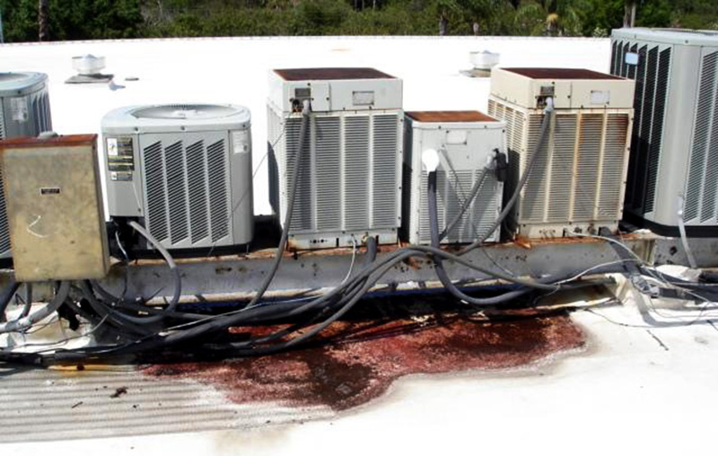 Rooftop Units on Dunnage