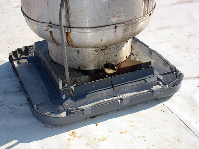 Grease Gutter System on unit