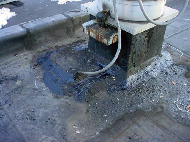Rooftop Grease Damage 1