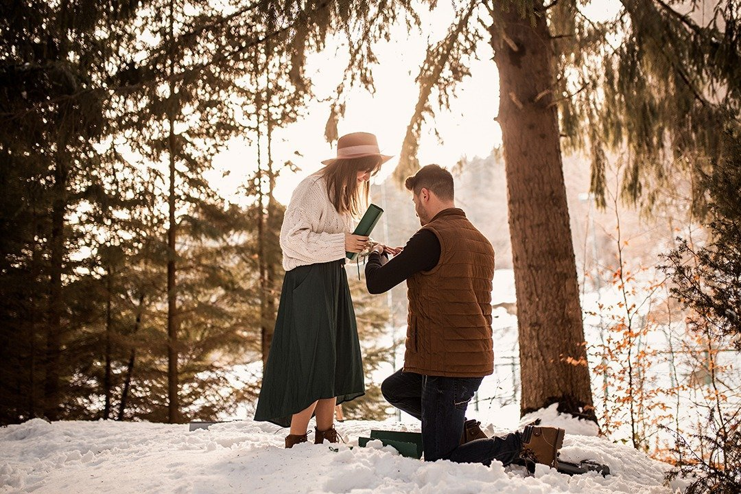 surprise proposal photo session