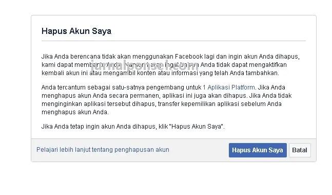 Langkah 1 Menghapus Akun Facebook Secara Permanen