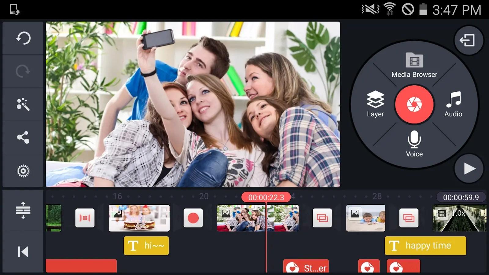 Kinemaster- aplikasi edit vidio android