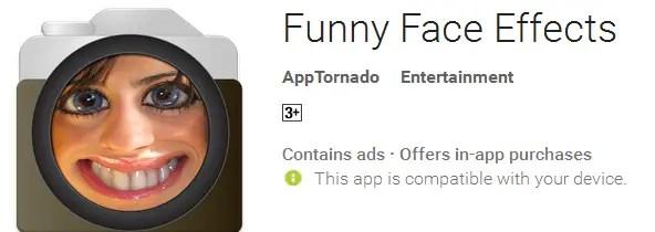 aplikasi edit foto lucu android terbaik Funny face