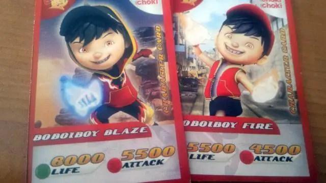 Kartu Karakter Langkah Choki Choki AR Boboiboy