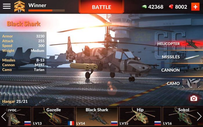 Game perang helikopter android World of Gunships Online