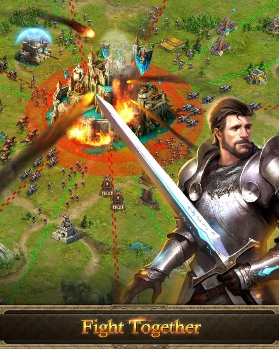 Game perang kerajaan android Age of Kings Skyward Battle