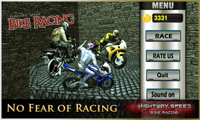 game balap motor android terbaik Highway Speed Motorbike Racing