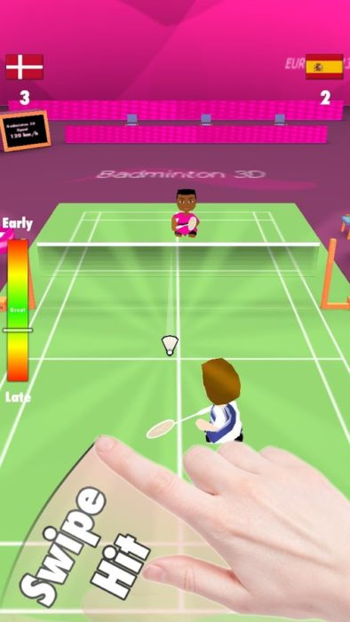 game badminton Smash 3d