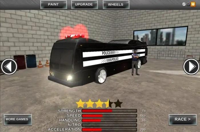 Simulator Bus Polisi
