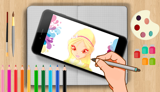 Coloring Winx Game Club