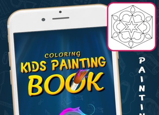 Kids painting coloring book