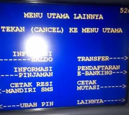 Pilih menu Informasi saldo