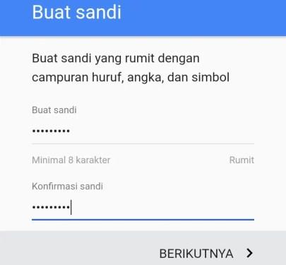 halaman buat kata sandi gmail