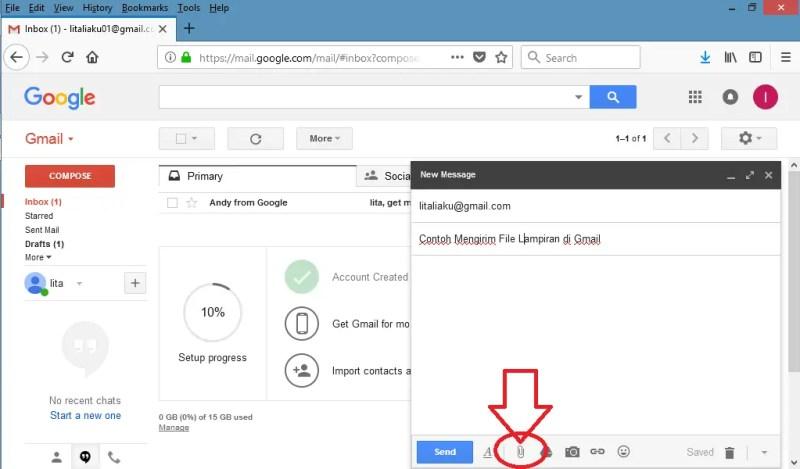 Cara Mengirim Email Beserta Lampiran Lewat Gmail