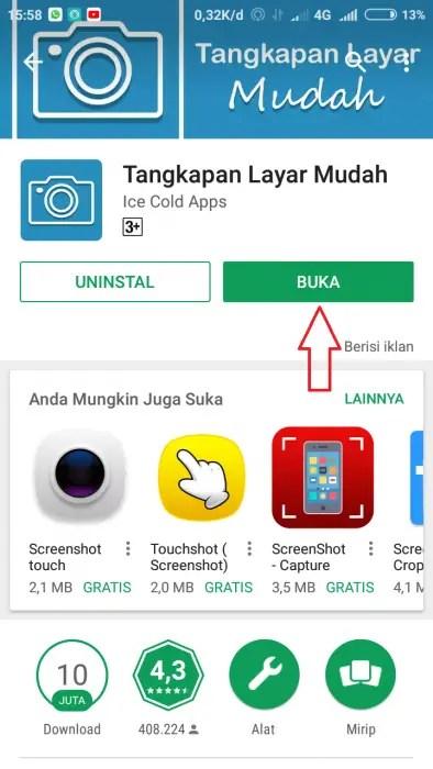 menggunakan Aplikasi Tangkapan Layar Mudah