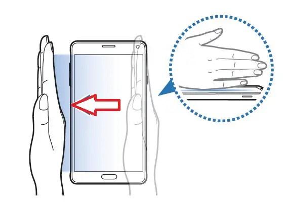 Cara Screenshot Menggunakan Fitur Motion Control Samsung