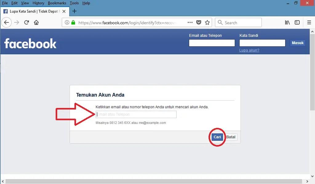 temukan akun facebook kamu