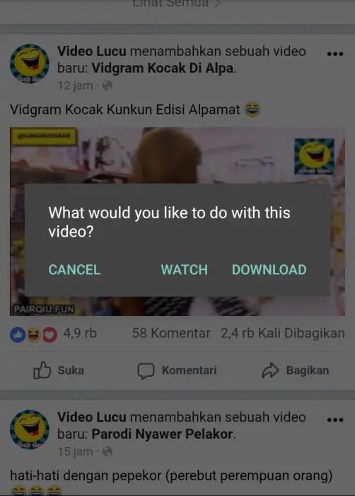 klik video dan pilih download