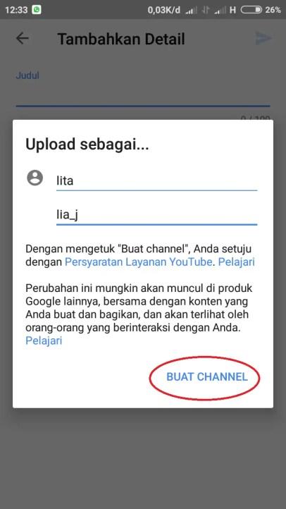 buat channel youtube mu