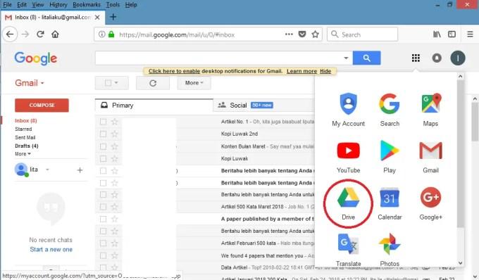 Pilih ikon google drive