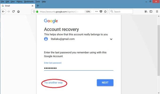 lupa kata sandi gmail? setel ulang dengan email pemulihan3