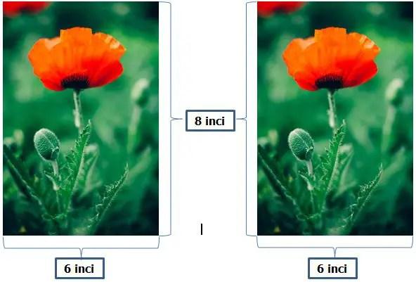 Ukuran Foto 6R dalam satuan inci