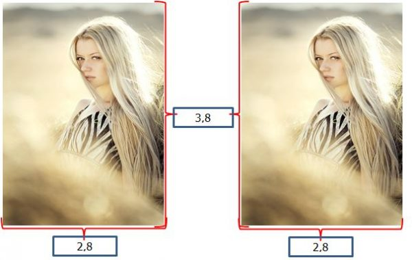 contoh ukuran foto 3x4 dalam satuan centimeter