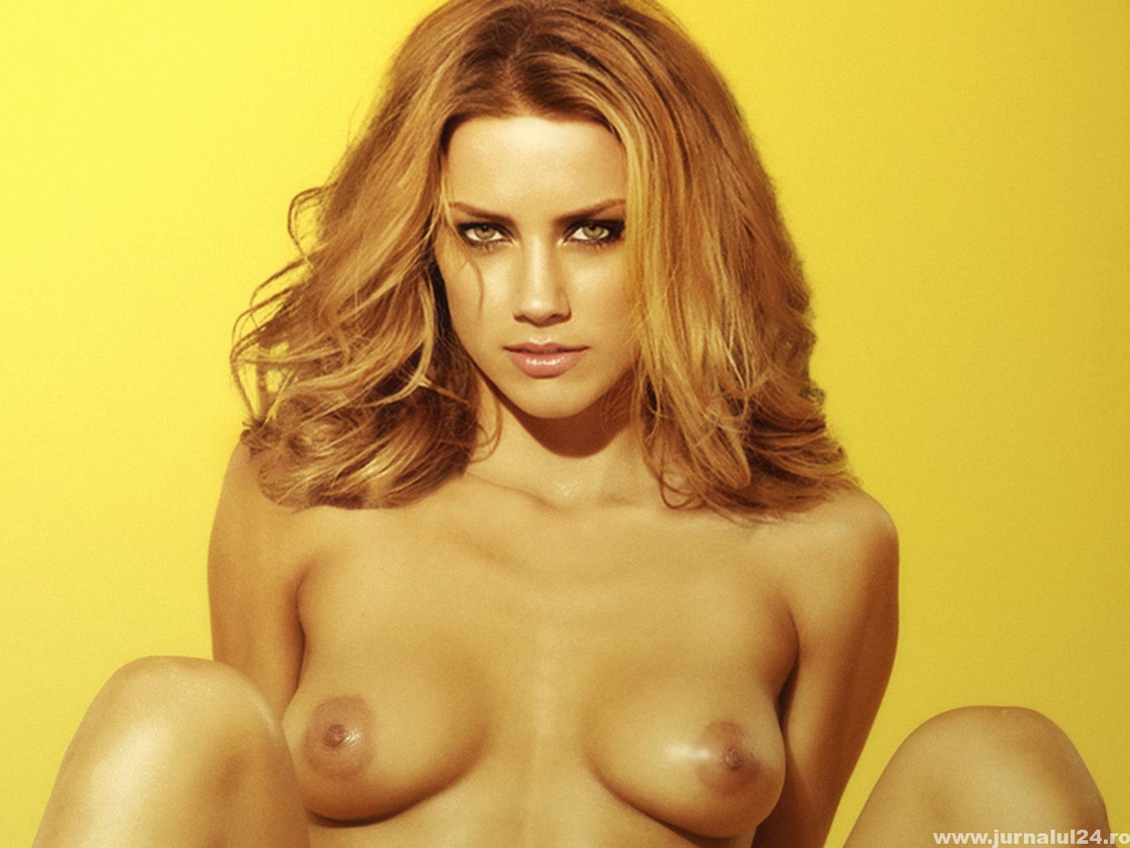 Amber Heard dezbracata