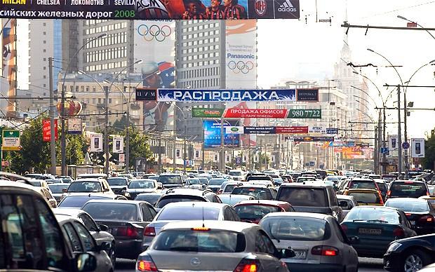 rusia trafic masini blocaj
