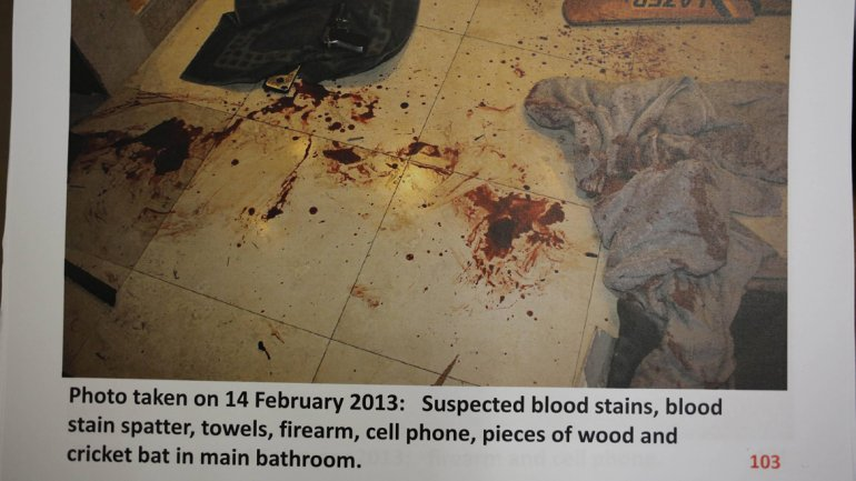 Oscar Pistorius crima sange