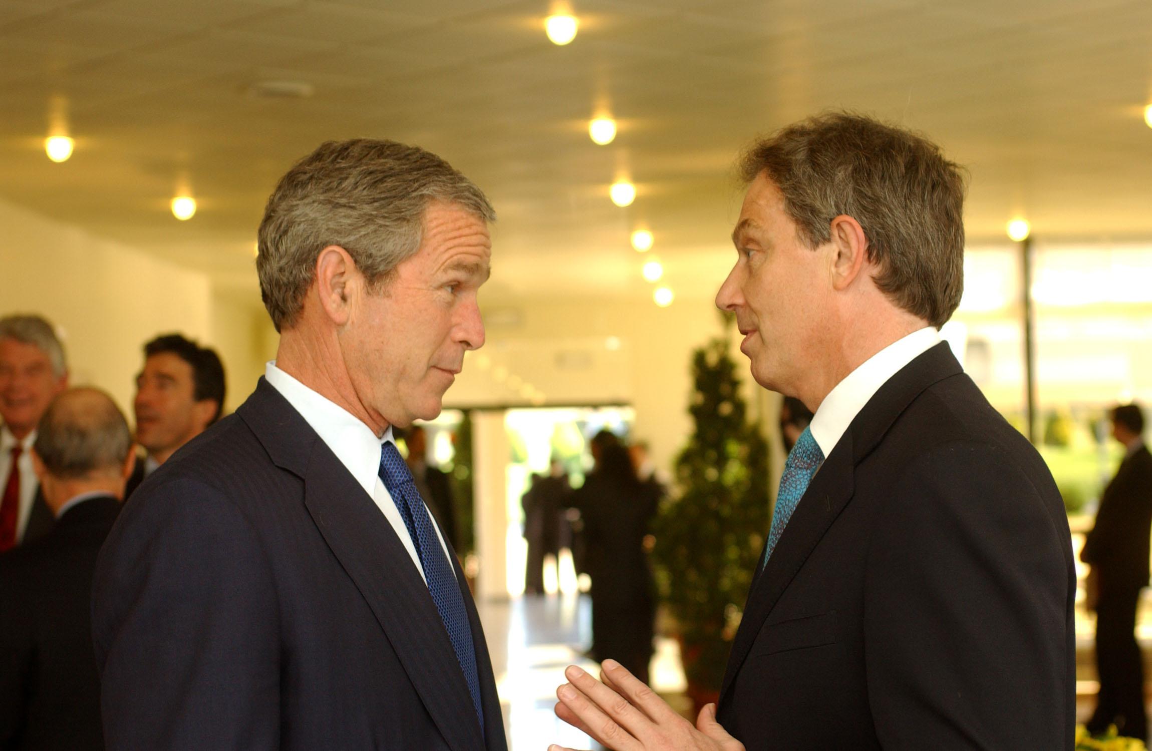 intelegere Tony Blair si George Bush